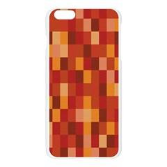 Canvas Decimal Triangular Box Plaid Pink Apple Seamless iPhone 6 Plus/6S Plus Case (Transparent)