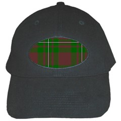 Cardney Tartan Fabric Colour Green Black Cap