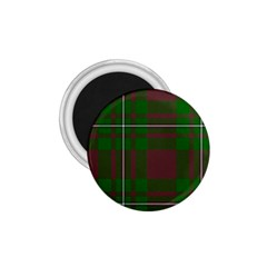 Cardney Tartan Fabric Colour Green 1 75  Magnets
