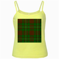 Cardney Tartan Fabric Colour Green Yellow Spaghetti Tank