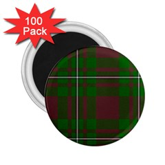 Cardney Tartan Fabric Colour Green 2.25  Magnets (100 pack)
