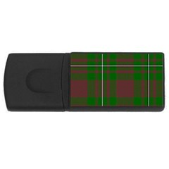 Cardney Tartan Fabric Colour Green USB Flash Drive Rectangular (2 GB)