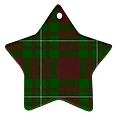 Cardney Tartan Fabric Colour Green Star Ornament (Two Sides)
