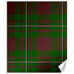 Cardney Tartan Fabric Colour Green Canvas 8  x 10