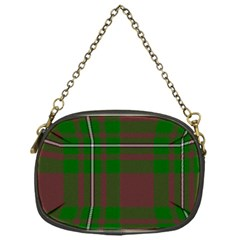 Cardney Tartan Fabric Colour Green Chain Purses (One Side)