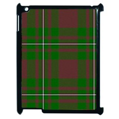 Cardney Tartan Fabric Colour Green Apple iPad 2 Case (Black)