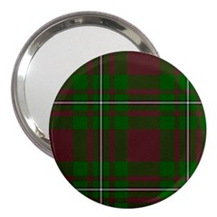 Cardney Tartan Fabric Colour Green 3  Handbag Mirrors