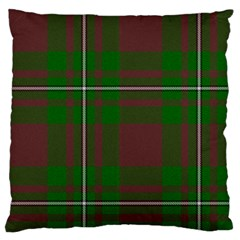 Cardney Tartan Fabric Colour Green Large Flano Cushion Case (Two Sides)