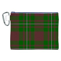 Cardney Tartan Fabric Colour Green Canvas Cosmetic Bag (XXL)