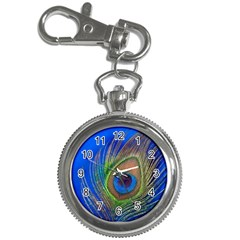 Blue Peacock Feather Key Chain Watches