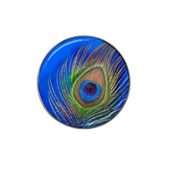 Blue Peacock Feather Hat Clip Ball Marker (10 Pack)