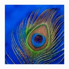 Blue Peacock Feather Medium Glasses Cloth