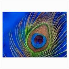 Blue Peacock Feather Large Glasses Cloth