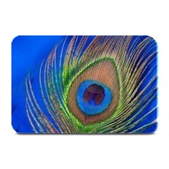 Blue Peacock Feather Plate Mats