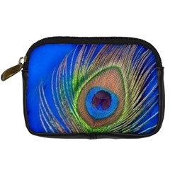 Blue Peacock Feather Digital Camera Cases