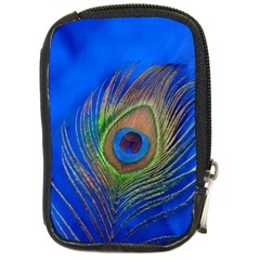 Blue Peacock Feather Compact Camera Cases