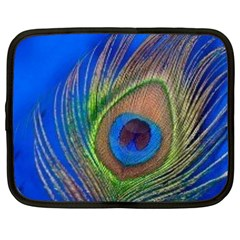 Blue Peacock Feather Netbook Case (XXL)