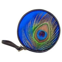 Blue Peacock Feather Classic 20-CD Wallets