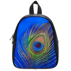Blue Peacock Feather School Bags (small)