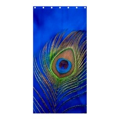 Blue Peacock Feather Shower Curtain 36  X 72  (stall)