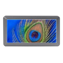 Blue Peacock Feather Memory Card Reader (Mini)