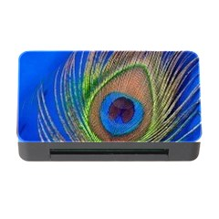 Blue Peacock Feather Memory Card Reader With Cf