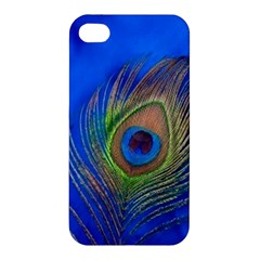 Blue Peacock Feather Apple Iphone 4/4s Premium Hardshell Case