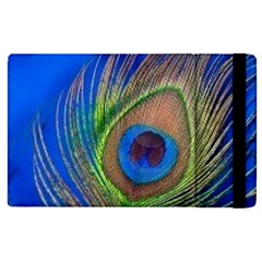 Blue Peacock Feather Apple iPad 3/4 Flip Case