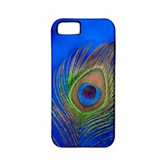 Blue Peacock Feather Apple Iphone 5 Classic Hardshell Case (pc+silicone)