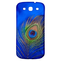 Blue Peacock Feather Samsung Galaxy S3 S Iii Classic Hardshell Back Case