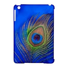 Blue Peacock Feather Apple iPad Mini Hardshell Case (Compatible with Smart Cover)