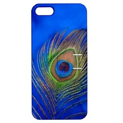 Blue Peacock Feather Apple iPhone 5 Hardshell Case with Stand