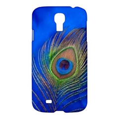Blue Peacock Feather Samsung Galaxy S4 I9500/i9505 Hardshell Case