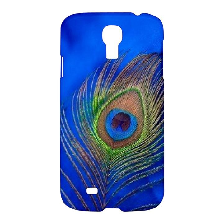 Blue Peacock Feather Samsung Galaxy S4 I9500/I9505 Hardshell Case