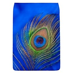 Blue Peacock Feather Flap Covers (l)