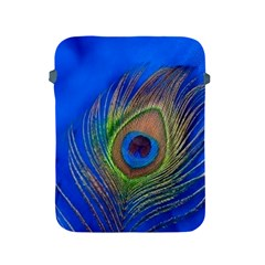 Blue Peacock Feather Apple Ipad 2/3/4 Protective Soft Cases
