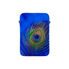 Blue Peacock Feather Apple Ipad Mini Protective Soft Cases