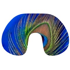 Blue Peacock Feather Travel Neck Pillows