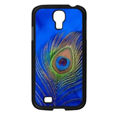 Blue Peacock Feather Samsung Galaxy S4 I9500/ I9505 Case (Black)