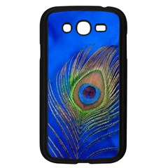 Blue Peacock Feather Samsung Galaxy Grand DUOS I9082 Case (Black)