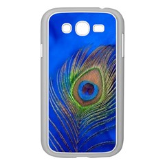 Blue Peacock Feather Samsung Galaxy Grand DUOS I9082 Case (White)