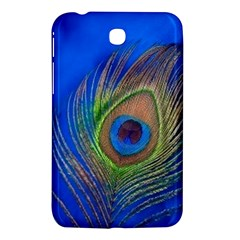Blue Peacock Feather Samsung Galaxy Tab 3 (7 ) P3200 Hardshell Case