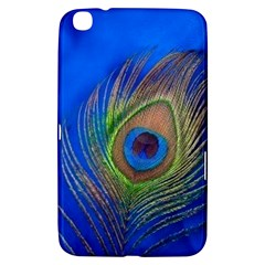 Blue Peacock Feather Samsung Galaxy Tab 3 (8 ) T3100 Hardshell Case