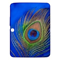 Blue Peacock Feather Samsung Galaxy Tab 3 (10.1 ) P5200 Hardshell Case