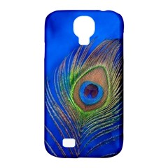 Blue Peacock Feather Samsung Galaxy S4 Classic Hardshell Case (pc+silicone)