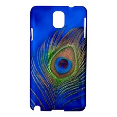 Blue Peacock Feather Samsung Galaxy Note 3 N9005 Hardshell Case