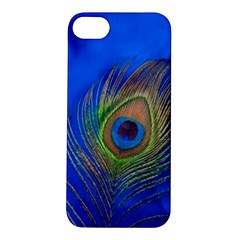 Blue Peacock Feather Apple iPhone 5S/ SE Hardshell Case