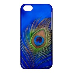 Blue Peacock Feather Apple Iphone 5c Hardshell Case