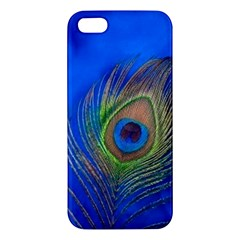 Blue Peacock Feather Iphone 5s/ Se Premium Hardshell Case
