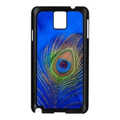 Blue Peacock Feather Samsung Galaxy Note 3 N9005 Case (Black)